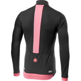 Castelli Fondo Full-Zip LS Jersey Men dark gray/giro pink
